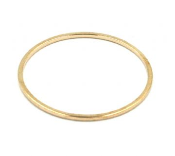 10pcs x 25mm Rose gold closed ring